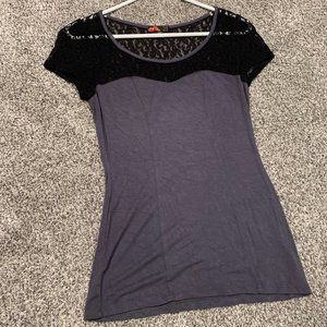 Forever 21 Lace detail T Shirt
